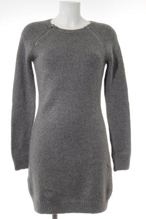 Abercrombie & Fitch Gebreide jurk zilver casual uitstraling