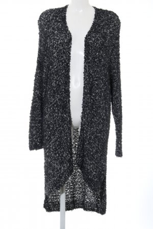 Abercrombie & Fitch Knitted Coat black-white flecked casual look