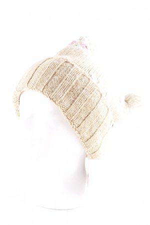 Abercrombie & Fitch Knitted Hat flower pattern fluffy