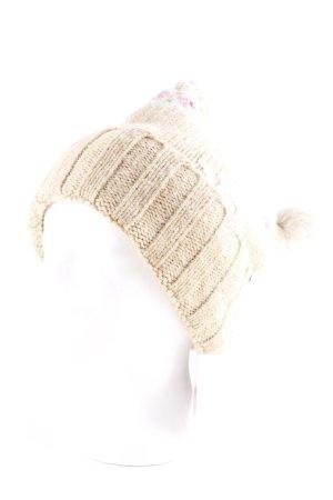 Abercrombie & Fitch Chapeau en tricot motif de fleur molletonné
