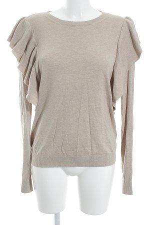 Abercrombie & Fitch Pull tricoté beige moucheté style simple