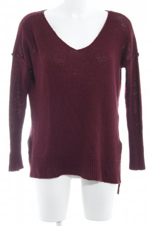 Abercrombie & Fitch Strickpullover bordeauxrot Casual-Look