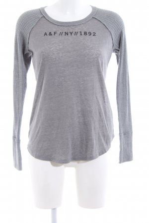 Abercrombie & Fitch Strickpullover hellgrau grafisches Muster Casual-Look