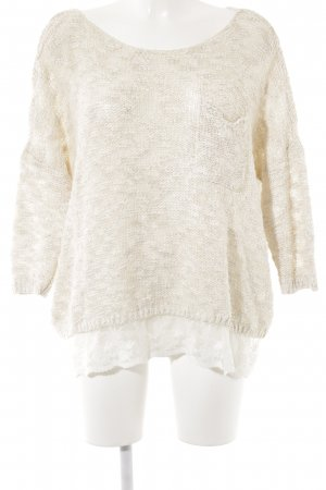 Abercrombie & Fitch Knitted Sweater cream fluffy