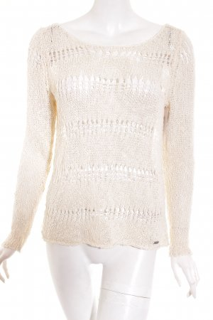 Abercrombie & Fitch Strickpullover creme Lochstrickmuster Casual-Look