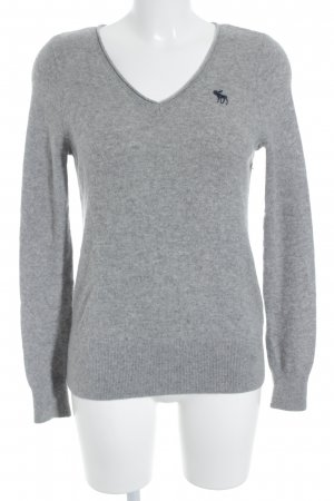 Abercrombie & Fitch Strickpullover dunkelgrau Casual-Look