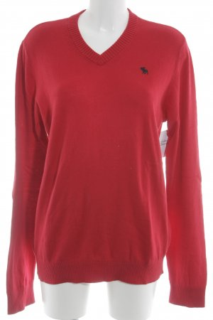 Abercrombie & Fitch Knitted Sweater dark red casual look