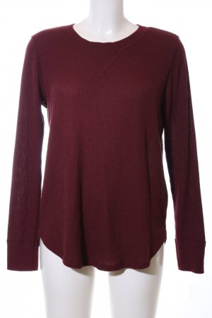 Abercrombie & Fitch Strickpullover rot Streifenmuster Casual-Look