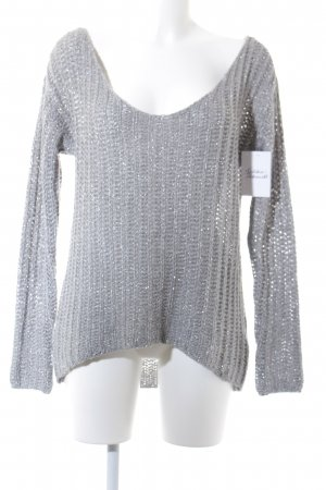 Abercrombie & Fitch Strickpullover hellgrau Casual-Look