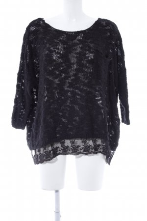 Abercrombie & Fitch Strickpullover schwarz Casual-Look
