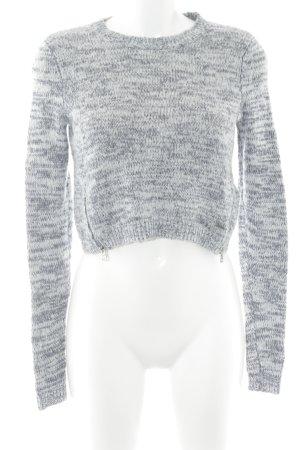 Abercrombie & Fitch Strickpullover weiß-graublau meliert Casual-Look