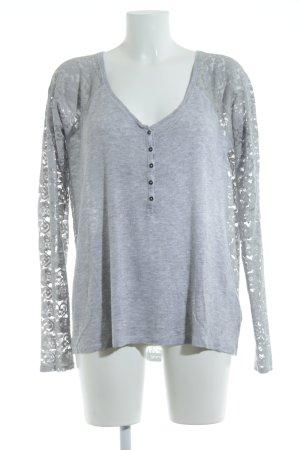 Abercrombie & Fitch Camisa tejida gris claro estampado floral look casual