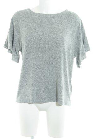 Abercrombie & Fitch Camisa tejida gris claro-gris oscuro moteado look casual