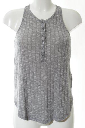 Abercrombie & Fitch Haut tricotés gris clair moucheté style décontracté