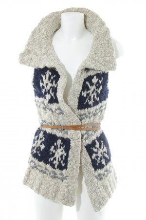 Abercrombie & Fitch Knitted Vest abstract pattern casual look