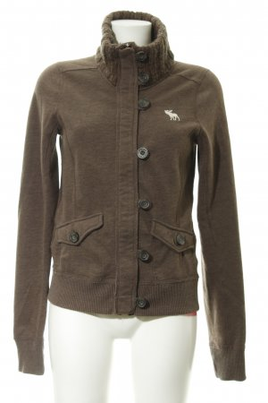 Abercrombie & Fitch Strickweste braun Webmuster Casual-Look