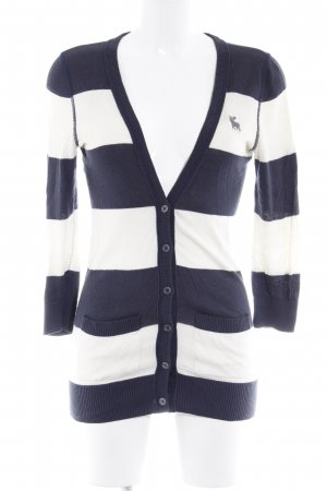 Abercrombie & Fitch Knitted Vest cream-dark blue striped pattern casual look