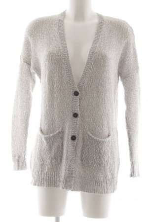Abercrombie & Fitch Strickweste wollweiß Webmuster Casual-Look