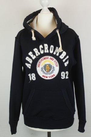 Abercrombie & Fitch Sweater Kapuzensweatshirt Hoodie Gr. M dunkelblau