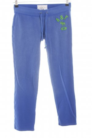 Abercrombie & Fitch Sweat Pants blue-green casual look