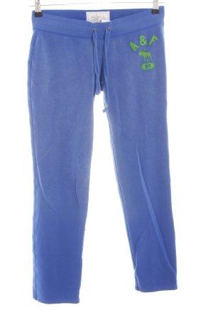 Abercrombie & Fitch Pantalone fitness blu-verde stile casual