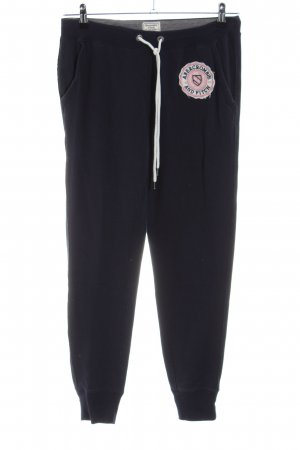 Abercrombie & Fitch Sweat Pants black themed print casual look