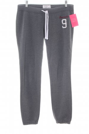 Abercrombie & Fitch Sweat Pants light grey flecked athletic style