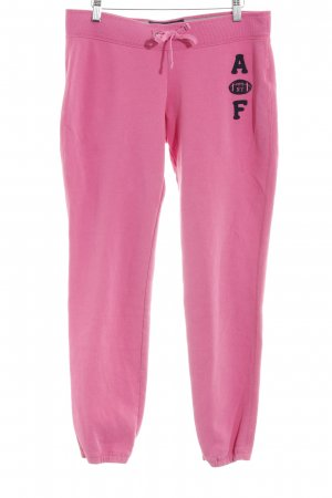 Abercrombie & Fitch Sweat Pants pink themed print casual look