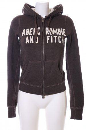 Abercrombie & Fitch Sweat Jacket brown printed lettering casual look