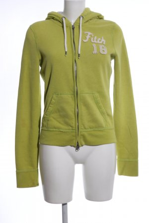 Abercrombie & Fitch Giacca fitness verde Stampa a tema stile casual