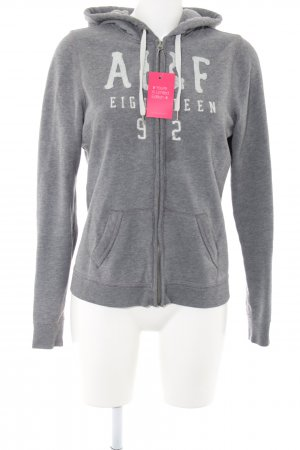 Abercrombie & Fitch Sweat Jacket light grey printed lettering athletic style