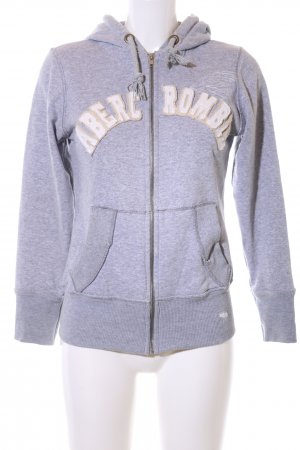Abercrombie & Fitch Sweat Jacket light grey flecked casual look