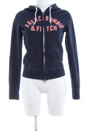 Abercrombie & Fitch Veste sweat bleu-rouge style décontracté