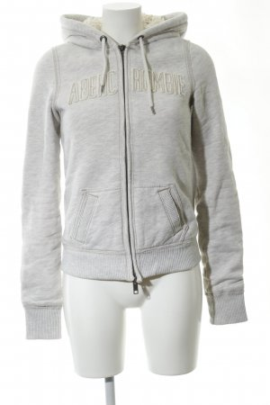 Abercrombie & Fitch Veste sweat gris clair moucheté style décontracté