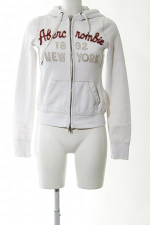 Abercrombie & Fitch Sweat Jacket white printed lettering casual look