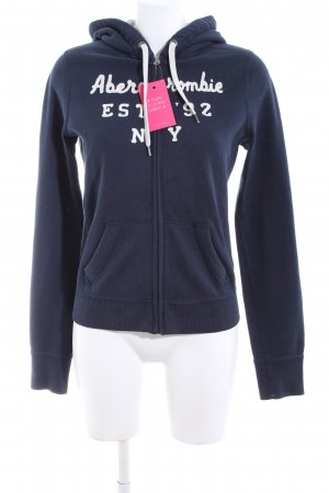 Abercrombie & Fitch Sweatjack blauw casual uitstraling