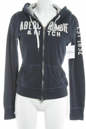 Abercrombie & Fitch Sweatjack donkerblauw-wolwit casual uitstraling