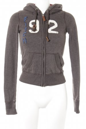 Abercrombie & Fitch Sweatjacke dunkelbraun Casual-Look