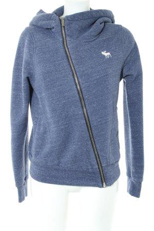 Abercrombie & Fitch Sweatjacke blau meliert schlichter Stil