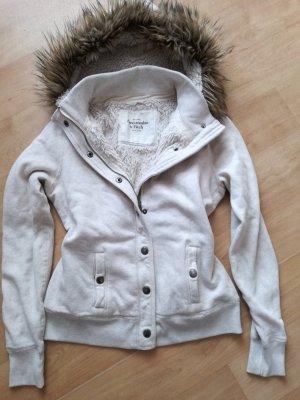 Abercrombie & Fitch Sweatjacke Gr.M/L TOP! Fell Teddyfell Fake Fur Luxus USA