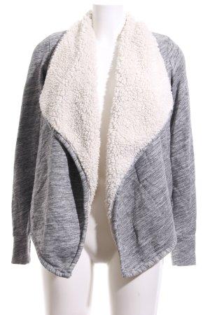 Abercrombie & Fitch Sweat Jacket grey weave pattern casual look