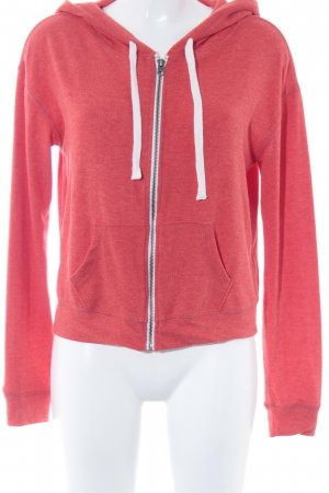 Abercrombie & Fitch Sweatjacke hellrot Casual-Look