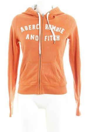 Abercrombie & Fitch Sweatjacke orange-weiß Casual-Look