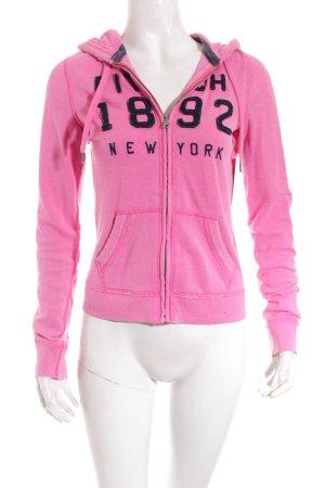 Abercrombie & Fitch Sweatjacke rosa-schwarz Casual-Look