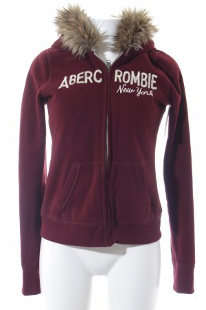 Abercrombie & Fitch Sweatjacke rostrot Casual-Look
