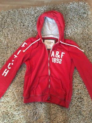 Abercrombie & Fitch Sweatjacke Rot in Größe L