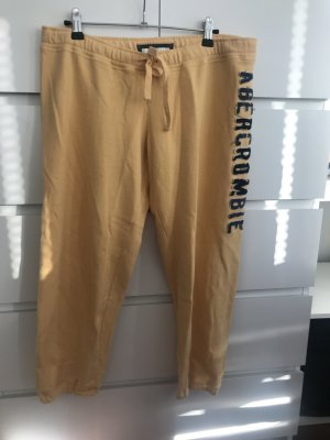 Abercrombie & Fitch Sweat Pants gold orange
