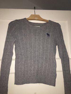 Abercrombie & Fitch Coarse Knitted Sweater grey