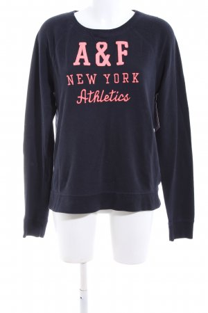 Abercrombie & Fitch Sweat Shirt blue-pink printed lettering casual look