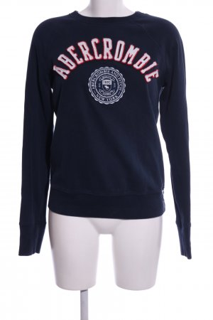 Abercrombie & Fitch Sweat Shirt blue-white themed print casual look